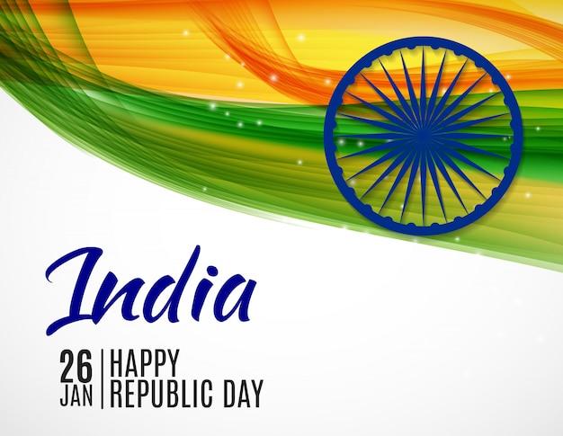 Happy india republic day26 gennaio. Vettore Premium