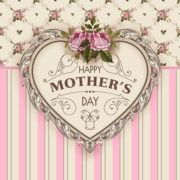 Happy mothers day vector illustration Vettore Premium