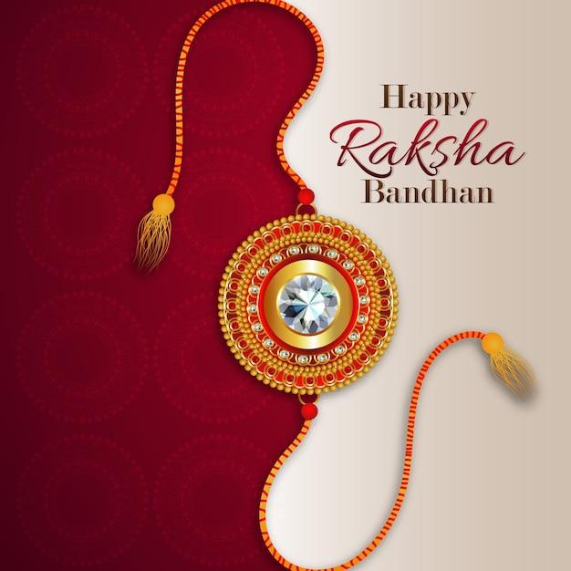 Happy raksha bandhan con sfondo creativo Vettore Premium