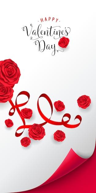 Happy valentine day lettering. iscrizione luminosa Vettore gratuito