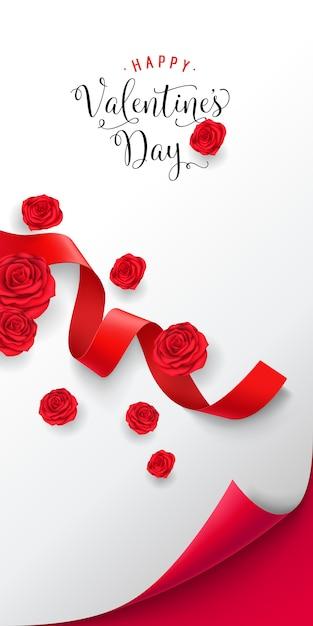 Happy valentine day lettering Vettore gratuito