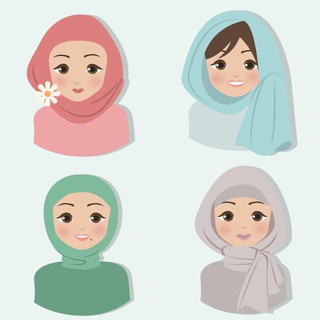 Hijab Vettore Premium