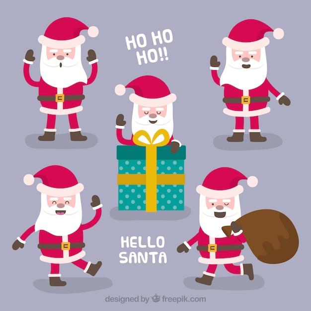 Babbo Natale Ho Ho Ho.Ho Ho Ho Raccolta Di Personaggi Di Babbo Natale Scaricare Vettori