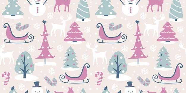 Holiday design seamless pattern Vettore Premium