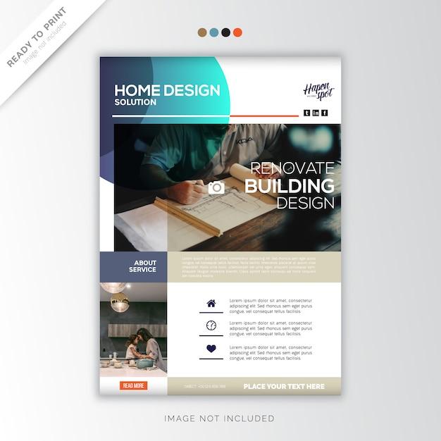 Home creativo, design creativo Vettore Premium