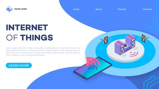 Home page del sistema stereo domestico intelligente Vettore Premium