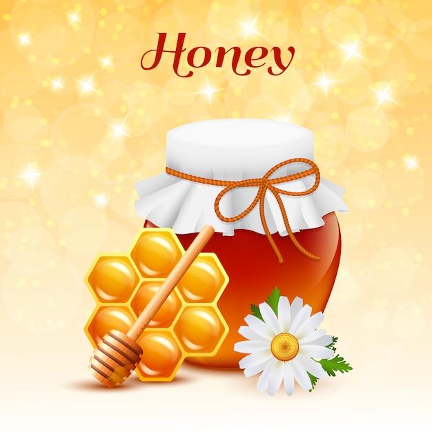 Honey color concept Vettore gratuito