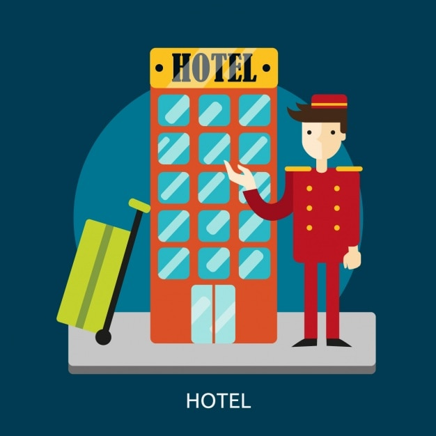 Hotel design sfondo Vettore gratuito