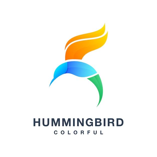 Humming bird vettore variopinto Vettore Premium