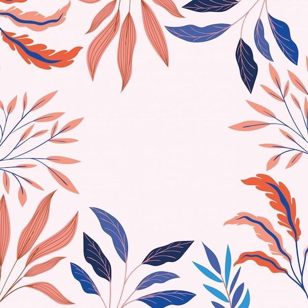 I colori abbelliscono la decorazione naturale del telaio Vettore gratuito