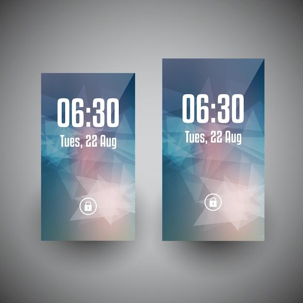 I disegni di carta da parati smartphone in due diverse dimensioni dello schermo Vettore gratuito