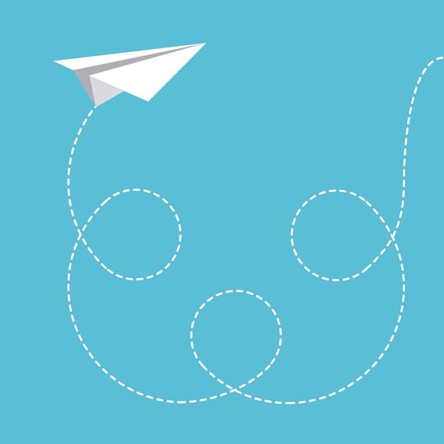 I giocattoli progettano sopra l'illustrazione blu di vettore del fondo Vettore Premium