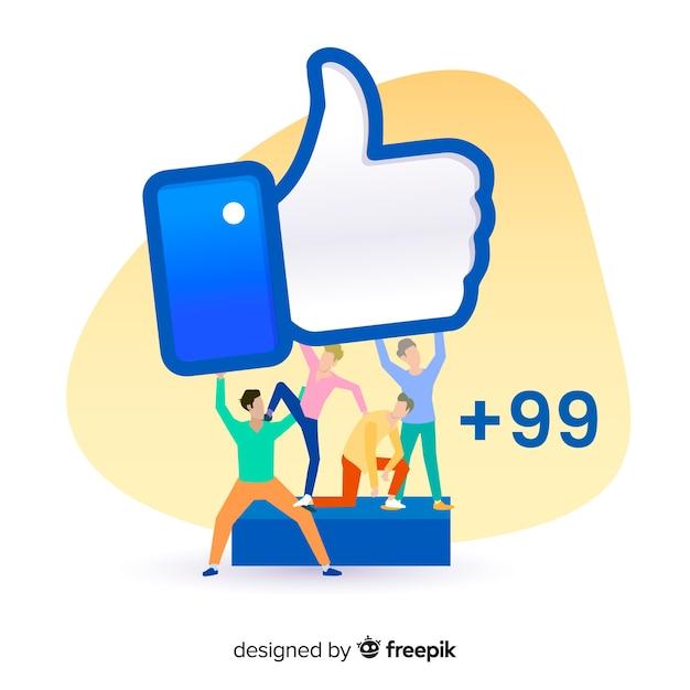 I media sociali disegnati a mano dei giovani gradiscono il fondo di concetto Vettore gratuito