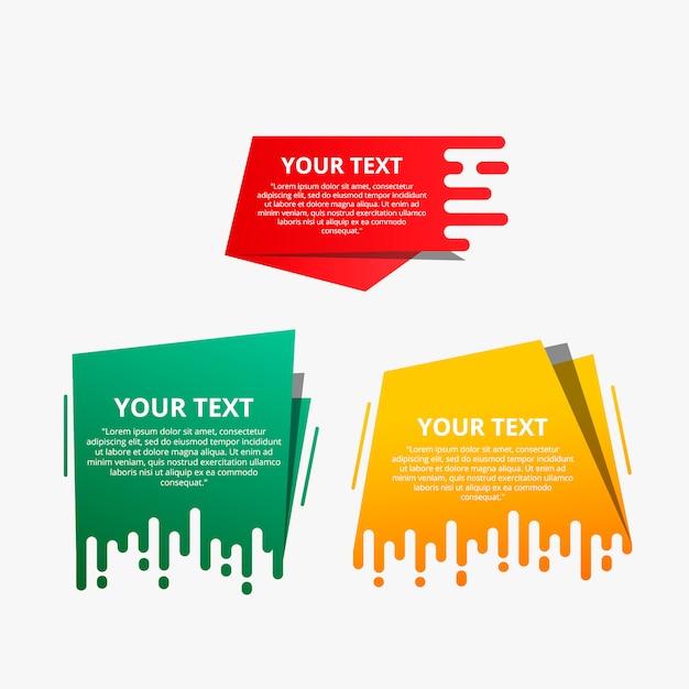 I modelli di testo stile velocizzano gli origami per banner Vettore Premium