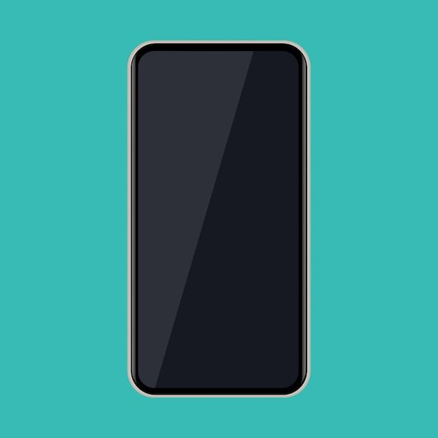 Icona astratta del telefono cellulare. illustrazione vettoriale Vettore Premium