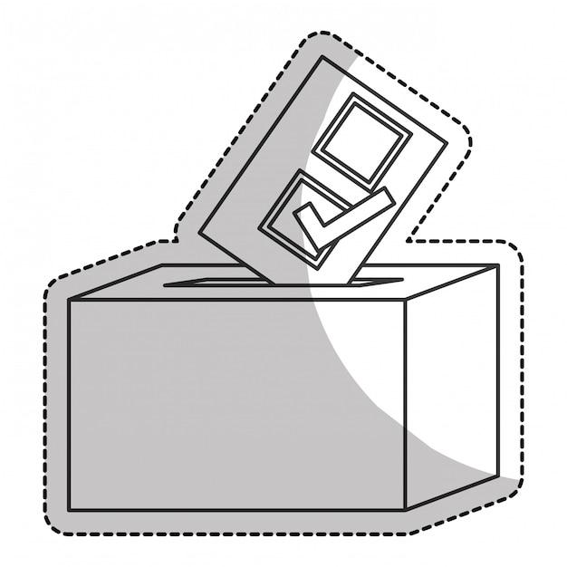 Icona casella di voto Vettore Premium