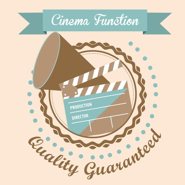 Icona cine Vettore Premium