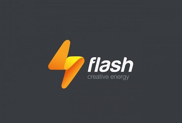 Icona con il logo flash. Vettore gratuito