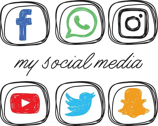 Icona dei social media Vettore Premium