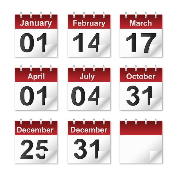 Icona del calendario Vettore Premium