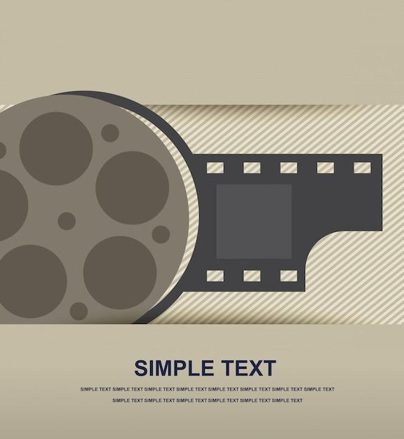 Icona del film Vettore Premium