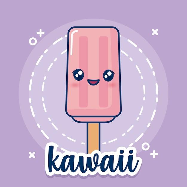 Icona del gelato kawaii Vettore gratuito
