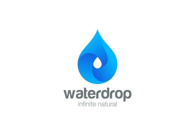 Icona del logo goccia d'acqua. Vettore Premium