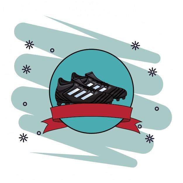 Icona del pallone da calcio Vettore Premium