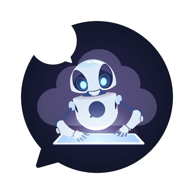 Icona del robot chatbot Vettore Premium