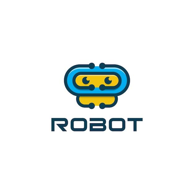 Icona del robot logo dell'applicazione Vettore Premium