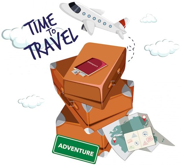 Icona del tempo di viaggiare Vettore gratuito