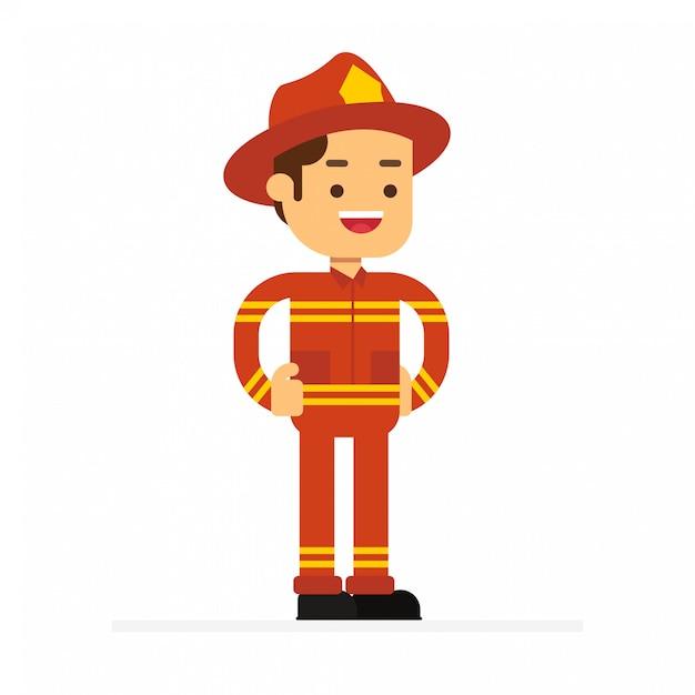 Icona dell'avatar personaggio uomo. fighter in uniforme Vettore Premium