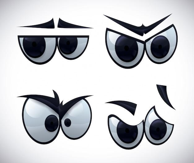 Icona dell'occhio Vettore Premium