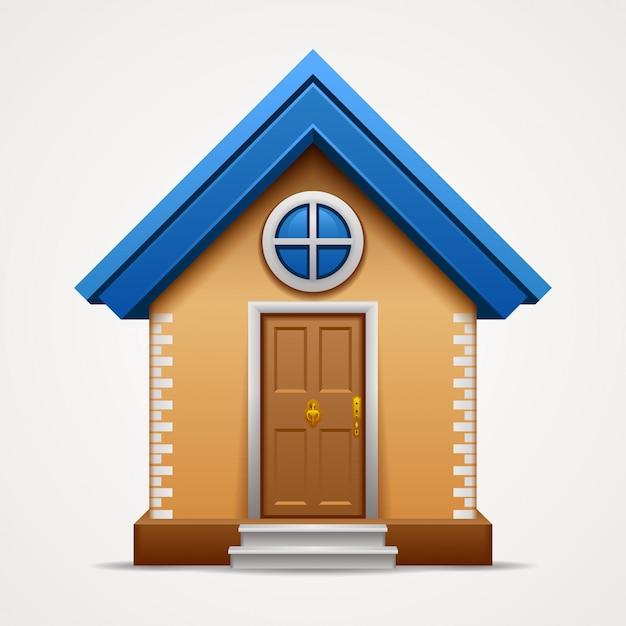 Icona della casa isolata su fondo bianco. Vettore Premium