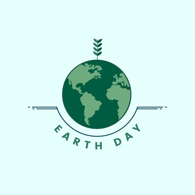 Icona della giornata e dell'ambiente della terra Vettore gratuito