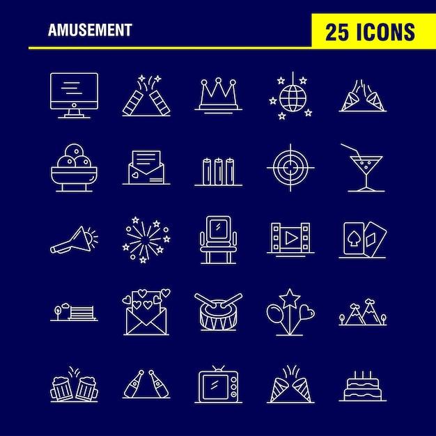 Icona della linea di intrattenimento per web, print e mobile ux / ui kit Vettore gratuito