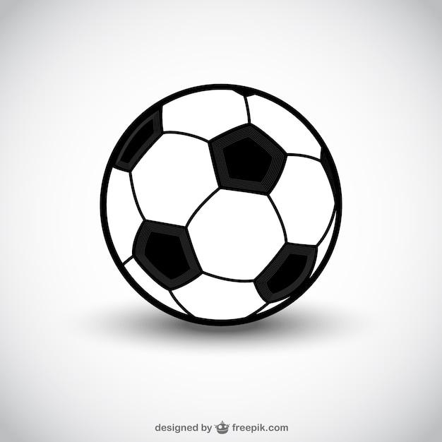 Icona della sfera di calcio Vettore gratuito
