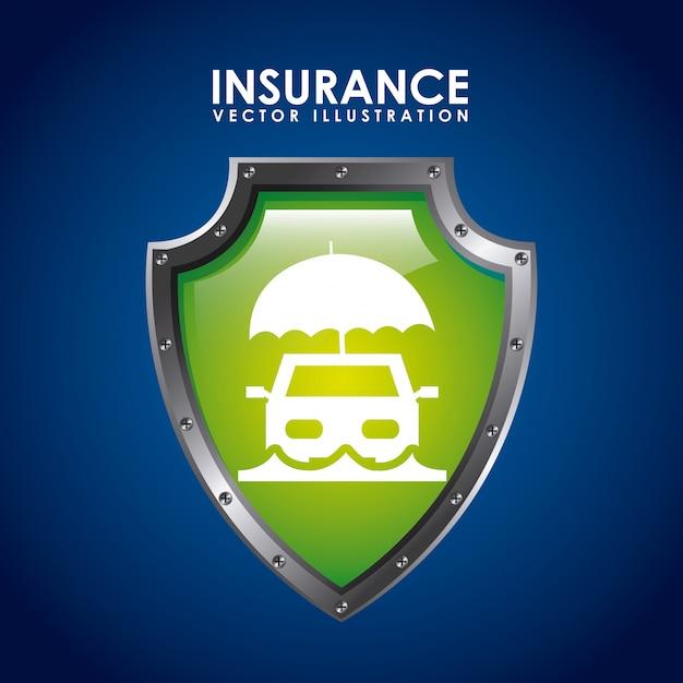 Icona di assicurazione Vettore Premium