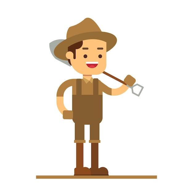 Icona di avatar personaggio uomo Vettore Premium