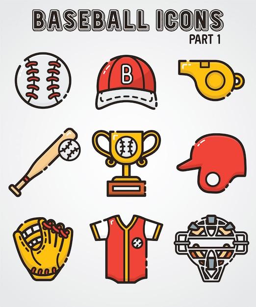 Icona di baseball Vettore Premium