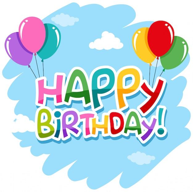 Icona di buon compleanno isolato Vettore gratuito