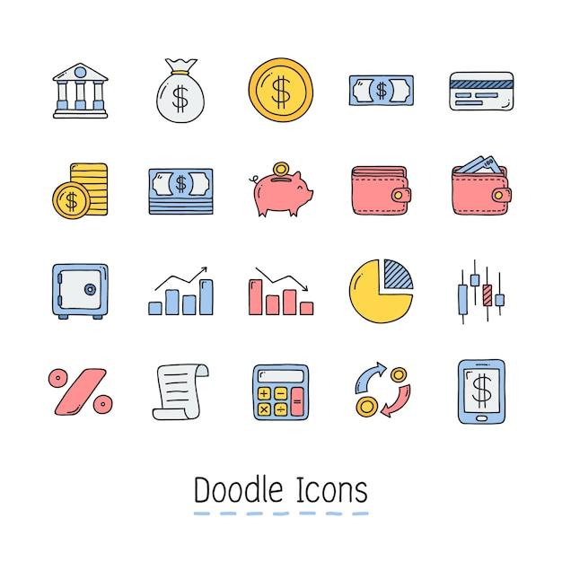 Icona di doodle disegnato a mano. Vettore Premium