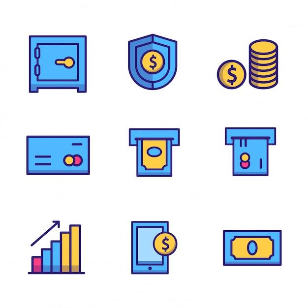Icona di finanza aziendale Vettore Premium