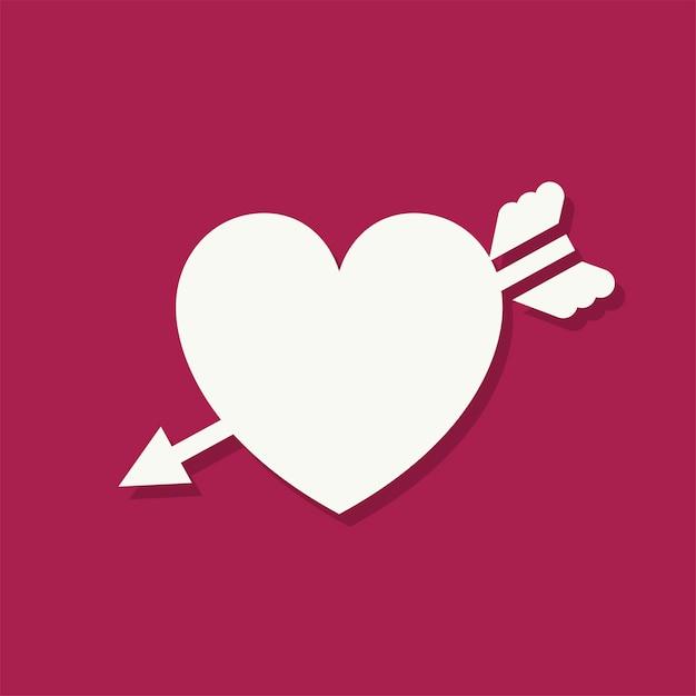 Icona di giorno di san valentino a forma di cuore Vettore gratuito