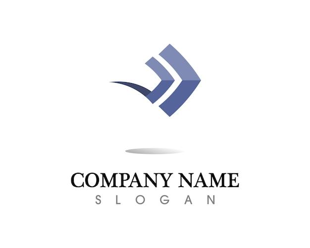 Icona di illustrazione vettoriale frecce logo template design Vettore Premium