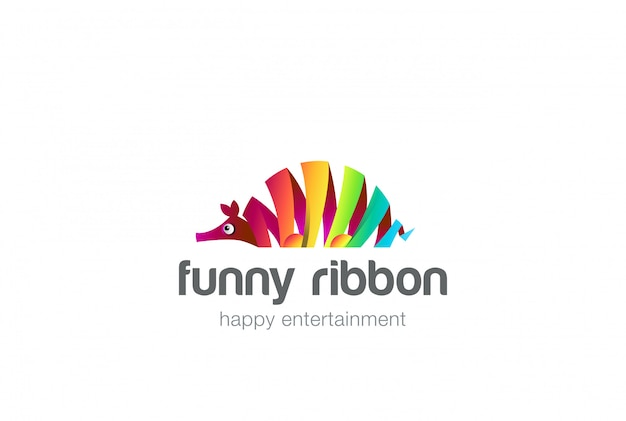 Icona di logo astratto pesce formica-orso colorato. Vettore gratuito