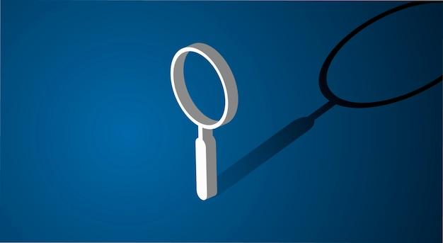 Icona di ricerca della lente d'ingrandimento Vettore gratuito