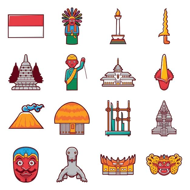 Icona di riserva dell'indonesia Vettore Premium