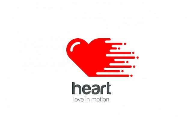 Icona di vettore del logo cuore. Vettore gratuito