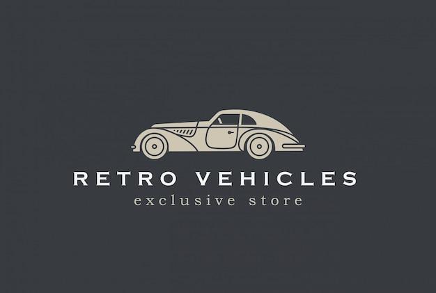 Icona di vettore di auto retrò logo Vettore gratuito
